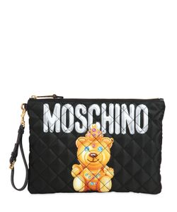Moschino | Клатч Teddy Bear Из Стёганого Нейлона