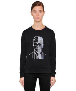 Karl Lagerfeld | Хлопковый Свитшот Karl Photo С Вышивкой