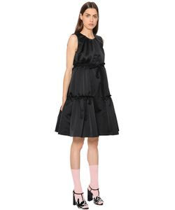 Rochas | Платье Из Дюшес С Оборками
