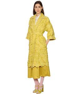 Rochas | Пальто Из Органзы С Цветочной Вышивкой