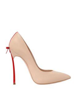 Casadei | Кожаные Туфли С Бантом 120mm