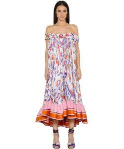 Emilio Pucci | Платье Из Двойного Жоржета С Принтом