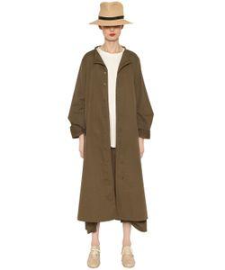 Y'S | Пальто Из Хлопковой Саржи В Горошек