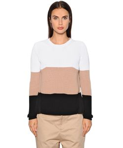No21 | Cotton Crepe Silk Voile Knit Sweater