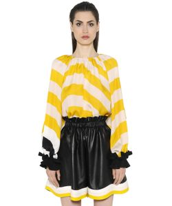 Fendi | Striped Silk Georgette Top
