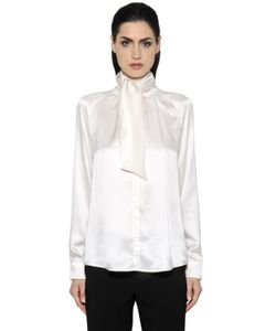 Max Mara | Рубашка Из Шёлкового Атласа С Бантом