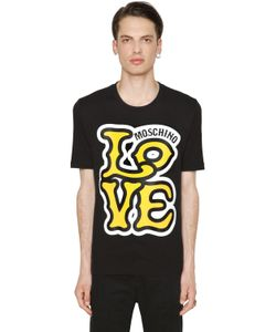 Love Moschino | Футболка Из Хлопкового Джерси С Принтом Логотипа