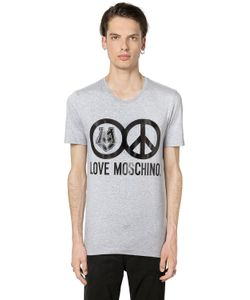 Love Moschino | Футболка Love Peace Из Стретч Джерси С Принтом