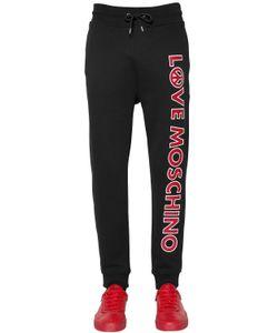 Love Moschino | Спортивные Брюки Из Хлопка С Принтом Логотипа