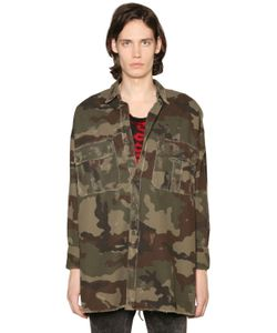 Faith Connexion | Camouflage Print Military Canvas Jacket