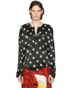 Faith Connexion | Star Printed Silk Satin Tunic Shirt