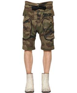 Faith Connexion | Camouflage Printed Cotton Shorts