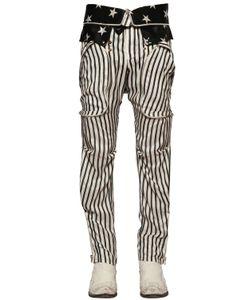 Faith Connexion | Stripe Stars Printed Silk Satin Pants
