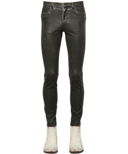 Faith Connexion | Waxed Stretch Cotton Denim Biker Jeans