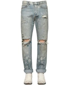 Faith Connexion | 16cm Distressed Cotton Denim Jeans