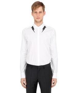 Neil Barrett | Рубашка Из Хлопкового Поплин С Принтом