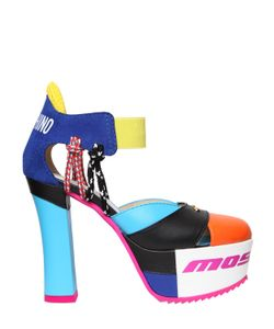 Moschino | Туфли Из Кожи И Замши 120Мм