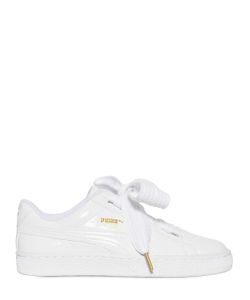 Puma Select | Basket Bow Patent Leather Sneakers