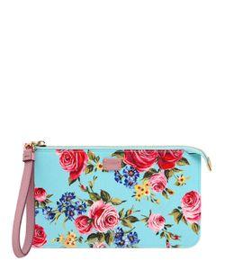 Dolce & Gabbana | Клатч Из Тиснёной Кожи С Цветочным Принтом