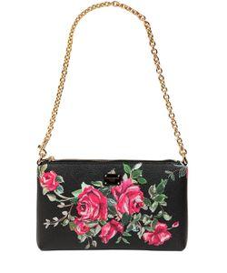 Dolce & Gabbana | Клатч Из Искусственной Кожи С Принтом Розы