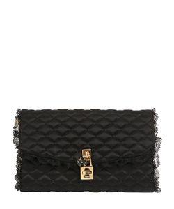 Dolce & Gabbana | Клатч Dolce Из Стёганого Атласа И Кружева