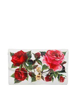 Dolce & Gabbana | Кожаный Клатч С Принтом Розы