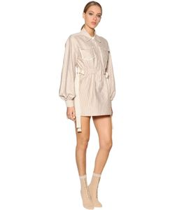 Fendi | Striped Cotton Poplin Shirt Dress