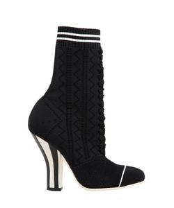 Fendi | 105mm Stretch Knit Ankle Boots