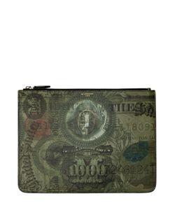Givenchy | Клатч Из Канвас С Принтом Abstract Dollar