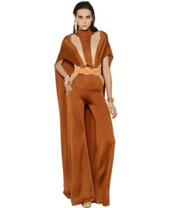 Balmain | Cutout Knit Jumpsuit W Cape