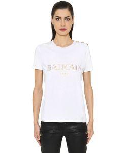 Balmain | Logo Printed Cotton Jersey T-Shirt