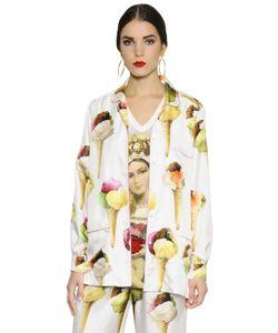 Dolce & Gabbana | Рубашка Из Шёлковой Саржи С Принтом Мороженое