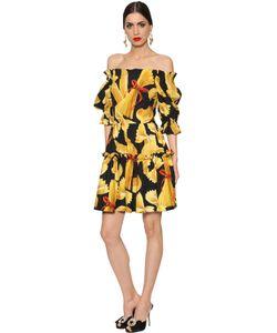 Dolce & Gabbana | Платье Из Поплин С Принтом Pasta