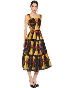 Dolce & Gabbana | Платье Из Двойной Органзы С Принтом Спагетти