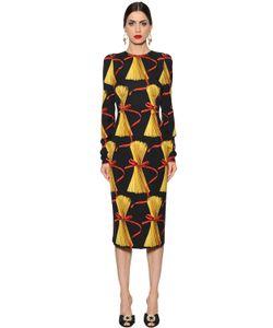 Dolce & Gabbana | Платье Из Шармез С Принтом Спагетти