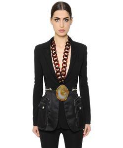 Givenchy | Пиджак Из Стретч Крепа И Нейлона