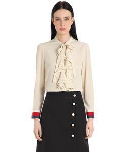 Gucci | Рубашка Из Шёлкового Крепдешина