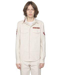 Valentino | Рубашка Из Канвас С Нашивками В Стиле Милитари