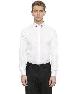 Dolce & Gabbana | Рубашка Из Поплин С Нашивками Музыкальные Ноты