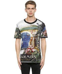 Dolce & Gabbana | Футболка Из Хлопкового Джерси С Принтом Taormina