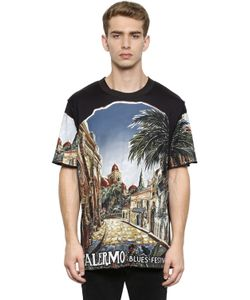 Dolce & Gabbana | Футболка Из Хлопкового Джерси С Принтом Palermo