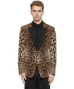 Dolce & Gabbana | Атласный Пиджак С Леопардовым Принтом