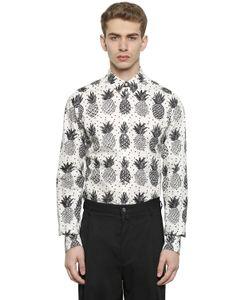 Dolce & Gabbana | Рубашка Из Поплин С Принтом Ананас