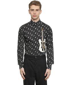 Dolce & Gabbana | Рубашка Из Поплин С Принтом Гитара