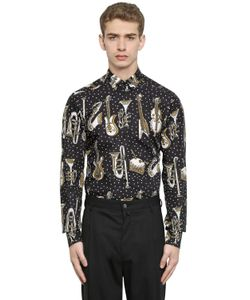 Dolce & Gabbana | Рубашка Из Поплин С Принтом