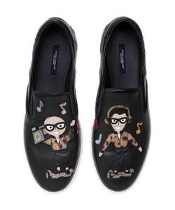 Dolce & Gabbana | Кожаные Кроссовки Без Шнуровки Dj Designers