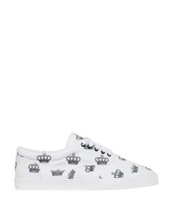 Dolce & Gabbana | Кроссовки Из Хлопкового Канвас С Принтом Корона
