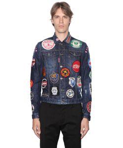 Dsquared2 | Куртка Из Деним С Нашивками Military Glam