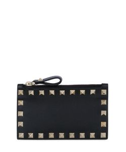 Valentino | Rockstud Leather Card Holder