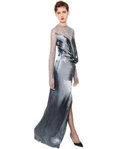 Nina Ricci | Платье Из Шёлкового Атласа И Кружева